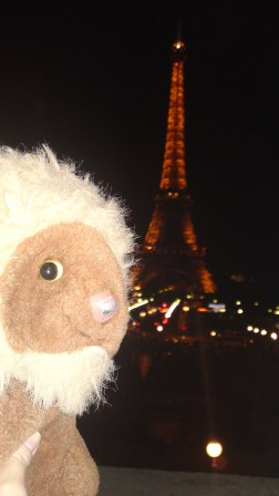 Little Lion Man at the Eiffel Tower